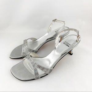• Stuart Weitzman Silver Vintage Heels •